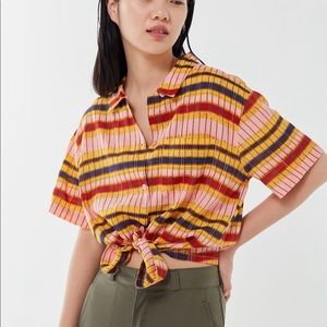 New UO Printed Button Down